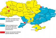 Раскол между Украиной и Россией: расклад политических симпатий и идеологических установок.
