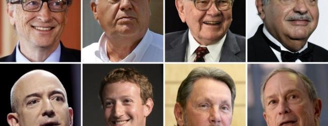 Сегодня состояние четырех сверх-богачей мира равняется состоянию половины человечества.